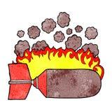 Cartoon flaming bomb Royalty Free Stock Photography