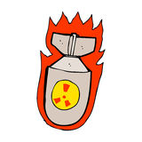 Cartoon flaming bomb Royalty Free Stock Photos