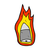 Cartoon flaming bullet Royalty Free Stock Photo
