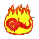 cartoon flaming dragon Royalty Free Stock Photos