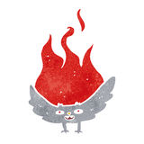 Cartoon flaming halloween bat Royalty Free Stock Image