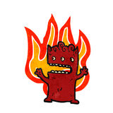 Cartoon flaming little devil Royalty Free Stock Photo