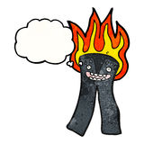Cartoon flaming pants Royalty Free Stock Photos