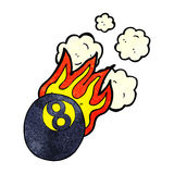 Cartoon flaming pool ball Royalty Free Stock Images