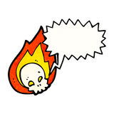 Cartoon flaming skull Royalty Free Stock Image