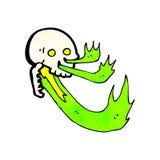 Cartoon flaming skull Royalty Free Stock Photos