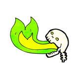 Cartoon flaming skull Stock Photography