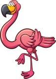 Cartoon flamingo Stock Photos