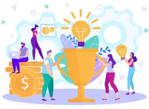 Cartoon Flat Generation Business Creation Ideas. royalty free illustration