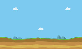 Cartoon flat landscape for game backgrounds. Silhouette Stock Photography