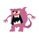 Cartoon flat monsters big icon. Colorful kid toy cute monster. Vector Stock Photography