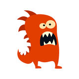 Cartoon flat monsters big icon. Colorful kid toy cute monster. Vector Stock Photos