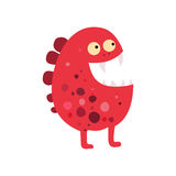Cartoon flat monsters big icon. Colorful kid toy cute monster. Vector Royalty Free Stock Image