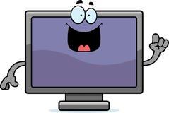 Cartoon Flat Screen TV Idea Royalty Free Stock Photo