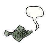 Cartoon flatfish Stock Photography