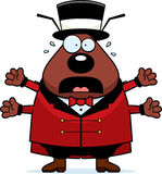 Cartoon Flea Circus Panic Royalty Free Stock Images