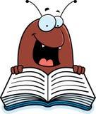Cartoon Flea Reading Stock Photography