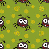 Cartoon fleas seamless background design Stock Photography