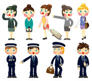 Cartoon flight attendant/pilot icon Stock Photography