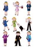 Cartoon flight attendant/pilot icon. Drawing Stock Photos