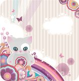 Cartoon floral background Royalty Free Stock Photography