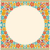 Cartoon Floral Border Royalty Free Stock Images