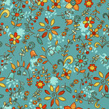 Cartoon floral seamless pattern Stock Image