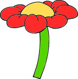 Cartoon flower Royalty Free Stock Photo