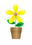 Cartoon flower Stock Images