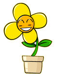 Cartoon flower Stock Photography