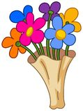 Cartoon flower bouquet Royalty Free Stock Photo