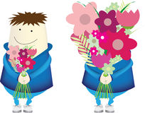 Cartoon flower boy Royalty Free Stock Images
