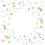 Cartoon flower card Stock Images