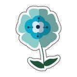 Cartoon flower flourish natural. Illustration eps 10 vector illustration