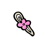 cartoon flower hair clip Stock Photo