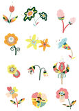 Cartoon flower icon Stock Images