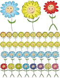 Cartoon flowers. Stock Images