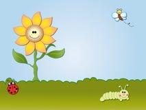 Cartoon flowers Stock Photography