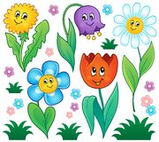 Cartoon flowers collection 4 Stock Images