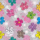 Cartoon Flowers Elegance Seamless Pattern_eps Stock Photography