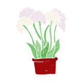 Cartoon flowers in pot Royalty Free Stock Image
