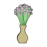 Cartoon flowers in pot Royalty Free Stock Photos