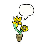Cartoon flowers talking Royalty Free Stock Photos