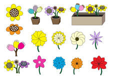 Cartoon flowers Stock Photo
