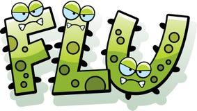 Cartoon Flu Bug Text Royalty Free Stock Photography