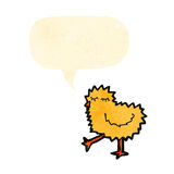 Cartoon fluffy chick Stock Photography