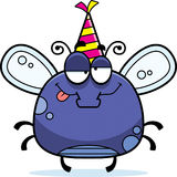 Cartoon Fly Drunk Party Stock Photo