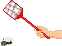 Cartoon Fly swatter. Illustration of Cartoon Fly swatter Royalty Free Stock Images