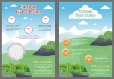Cartoon Flyer - Brochure with Lovely design Stock Image