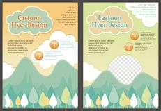 Cartoon Flyer - Brochure with Lovely design Royalty Free Stock Photography